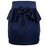 🌼 Школьные юбки. Юбка карандаш для девочки. Темно-синяя.