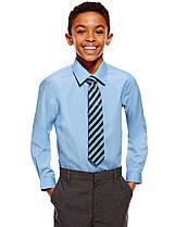 Школьная рубашка голубая на худенького мальчика 7-8 лет Slim Fit, Non iron Marks&Spencer (Англия)