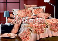 Постельное бельё двухспальное 180*220 сатин (5711) TM KRISPOL Украина