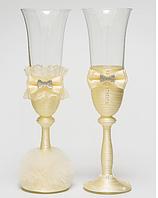 Свадебные  бокалы Клеопатра, молочные