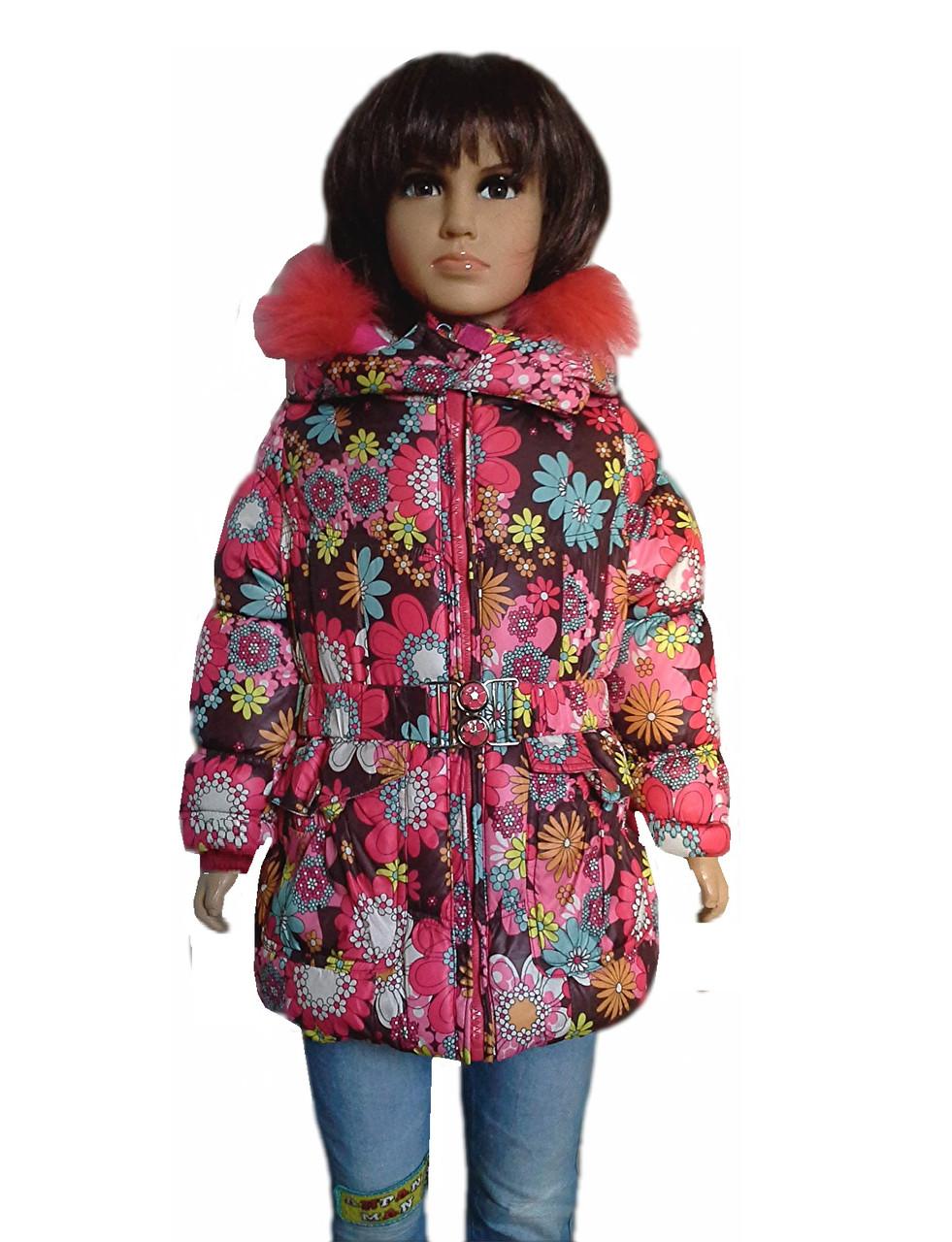 Пальто цветы