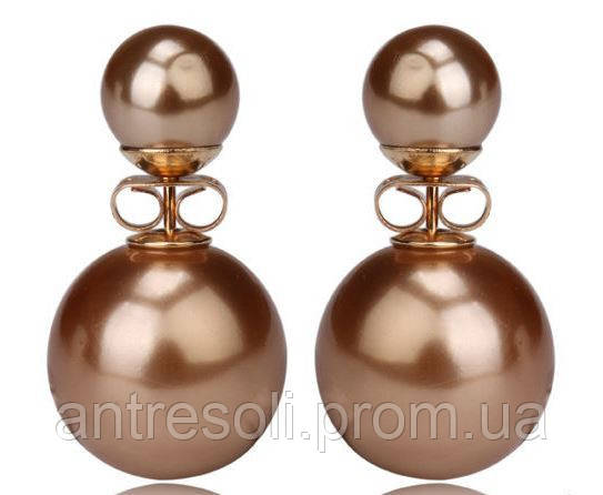 Серьги шарики Dior золото код 620