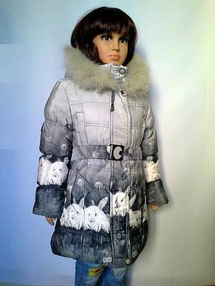 Пальто зимнее кролики, фото 2