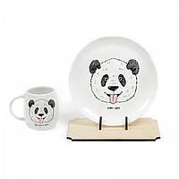 Набор посуды тарелка и чашка Панда