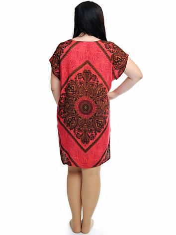 Женская туника с орнаментом красная, фото 2