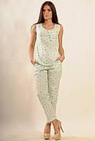 Летняя блуза полуприлегающего силуэта хлопок 42-52 размеры