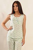Летняя блуза полуприлегающего силуэта хлопок 42-52 размеры, фото 1
