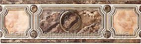 Плитка InterCerama PIETRA бордюр широкий коричневый