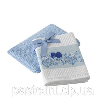 Набор кухонных полотенец  40x60(2) Baskili голубой
