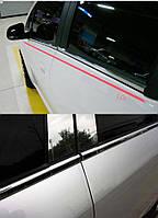 Hyundai Tucson ix35 2010-2015 хромовые накладки молдинги на двери под окна передние задние новые