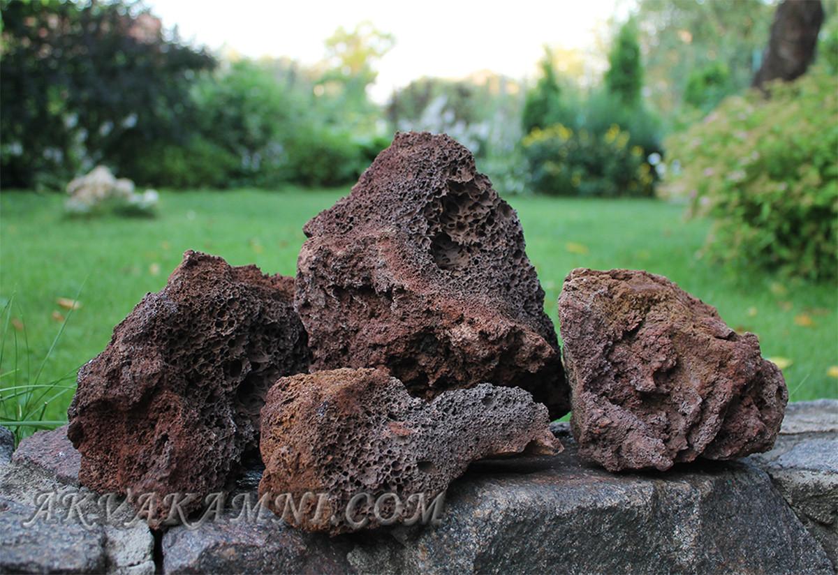 Лава коричневая 1кг для аквариума