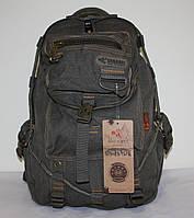 Городской повседневный рюкзак хаки брезент