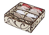 Коробочка для белья на 7 секций Молочный Шоколад
