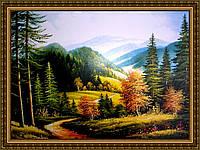 Картина в багетной раме Горная тропа 200х240 мм №325