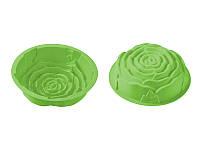 Силиконовая форма для выпекания, роза, зеленая