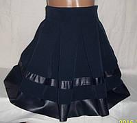 """Шикарная юбка от производителя """"Кожа"""" синяя"""