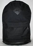 Спортивный городской рюкзак Nike с кожаным дном черный
