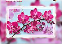 """Схема для вышивки бисером на подрамнике (холст) """"Ветка орхидеи-1"""""""