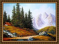 Репродукция картины Альпийский родник 200х240 мм