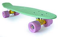 Пенни Борд «Мятный» 22″ Нежно Розовые Колеса / пенниборд скейт (penny board), скейтборд