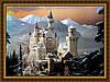 Картина в багетной раме Замок 200х240 мм №306