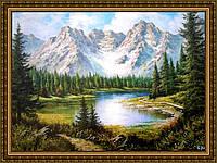 Картина в багетной раме Чудесное озеро 200х240 мм №305