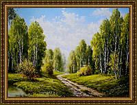 Репродукция картины Летний лес.Тропинка 200х240 мм