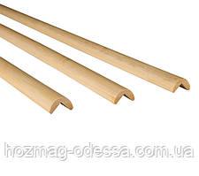 Бамбуковый молдинг угловой наружный, светло-бежевый