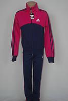 Спортивный костюм в стиле Adidas на девочку три полосы школа 2016