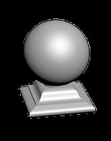 Бетонный шар на подставке Белый