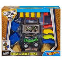 Игровой набор Арена для трюков Хот вилс Монстер Джем Hot Wheels Monster Jam Crash And Carry Arena оригинал