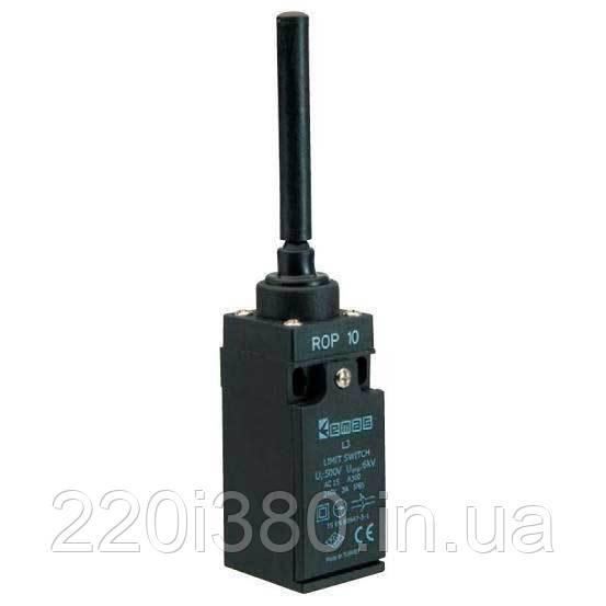 Выключатель конечный с пласт. консолью и пласт. стержнем (1НО+1НЗ) L3K13ROP10 EMAS