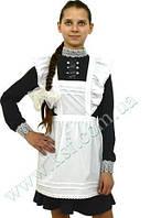 Школьный фартук для девочки белый, арт.1907