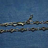 Серебряный браслет с чернением Клевер 5020