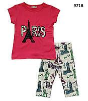 Летний костюм Paris для девочки. 1-2;  3-4;  5-6;  7-8 лет
