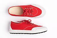 Мокасины женские на шнурках красные