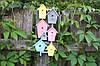 Ключница настенная цветные домики