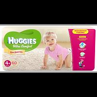 Подгузники детские Huggies Ultra Comfort 4+, 10-16 кг 60 шт для девочек