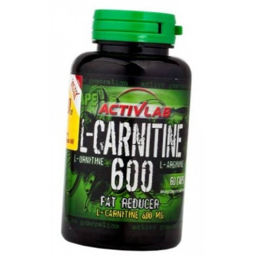 ACTIVLAB L-CARNITINE 600 WITH L-ORNITHINE AND L-ARGININE 60CAPS