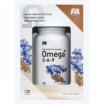 FITNESS AUTHORITY OMEGA 3 120 SOFT GELS