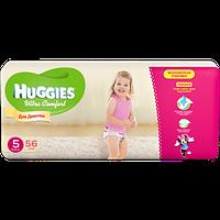 Подгузники детские Huggies Ultra Comfort 5, 12-22 кг 56 шт для девочек