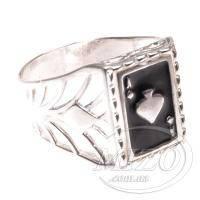 Серебряная печатка «Туз Пик»