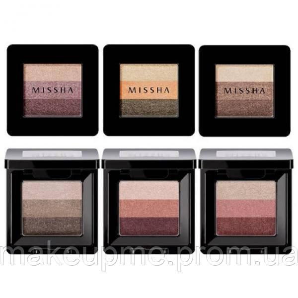 Трехцветные тени для век - Missha Tripple Shadow тон #01 - M6164 - Make Up Me в Киеве