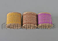 Лента-мешковина с цветным кружевом 5см/2м