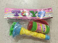 Набор мыльные пузыри дудка в пакете 19*12см