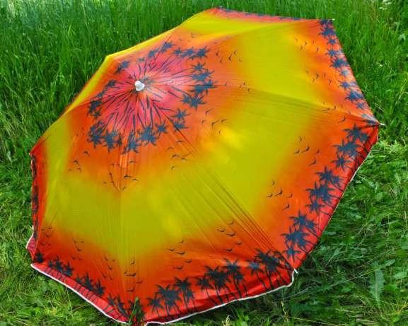 Зонт пляжный с наклоном 2 метра. Ткань с защитой от УФ излучения.
