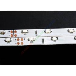 Белая светодиодная лента бокового свечения  4,8W SMD 4008 (60 шт./м) IP20 Белая подложка