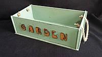 Ящик из фанеры оливкового цвета с ручками 27х27х9 см, 145/115 (цена за 1 шт. + 30 гр.)