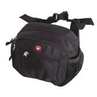 Wenger - Мужская надежная городская сумка на пояс - 20х15х10 см Черный (1092232) ( EDP68163 )