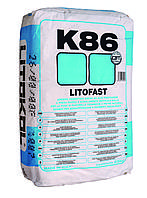 Клей для мрамора, керамогранита, плитки Litokol Litofast К86(литокол к86) 20 кг